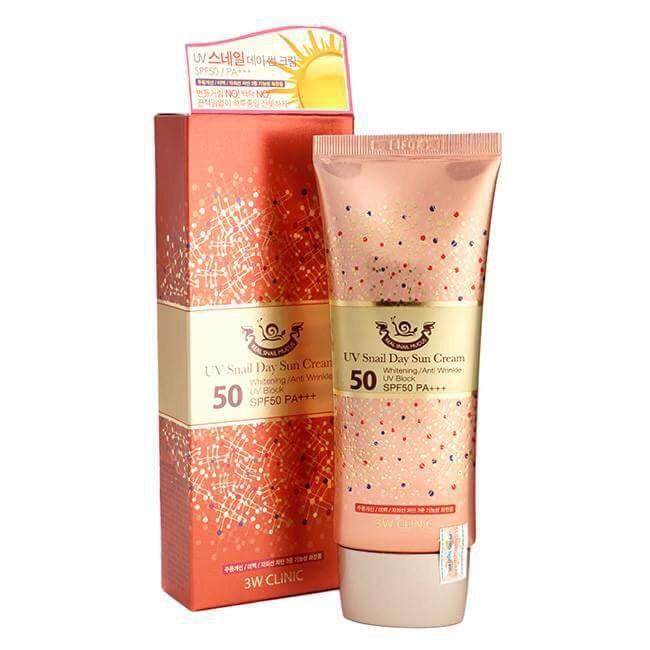 Kem Chống Nắng Ốc Sên UV Snail Cream 3W Clinic Hàn Quốc