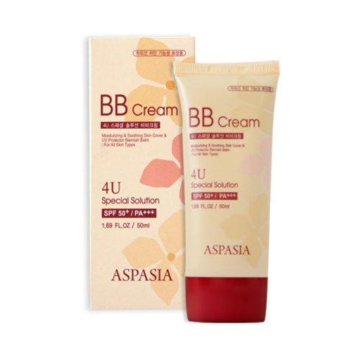 Kem Nền Chống Nắng Aspasia 4U Special B.B Solution Cream Spf50 Pa+++