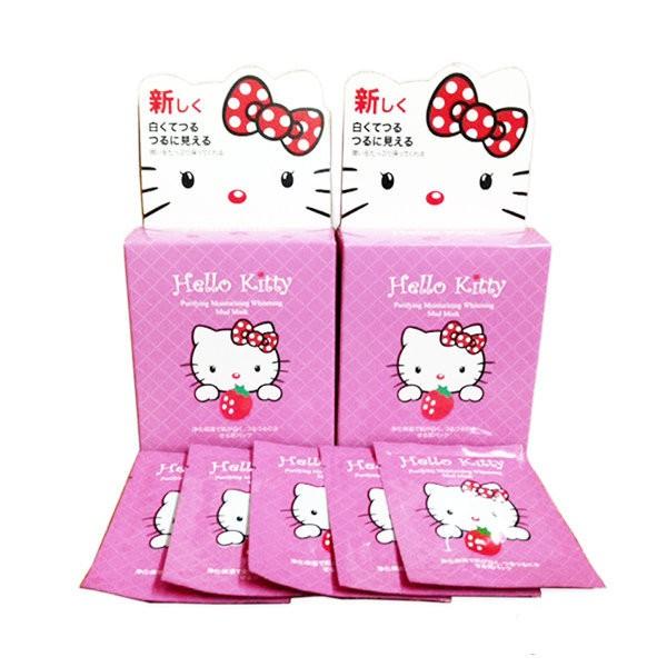 Mặt Nạ Bùn Hello Kitty 10 Miếng Nhật Bản