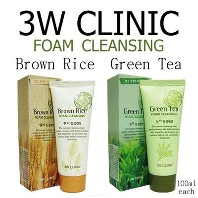 Sữa Rửa Mặt Brown Rice Foam Cleansing 3W Clinic Hàn Quốc 100ml