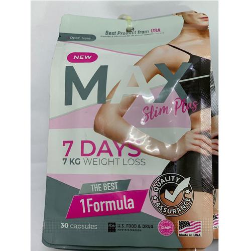 Giảm cân Max Slim 7 Days New Dạng Gói 30 Viên Thái Lan