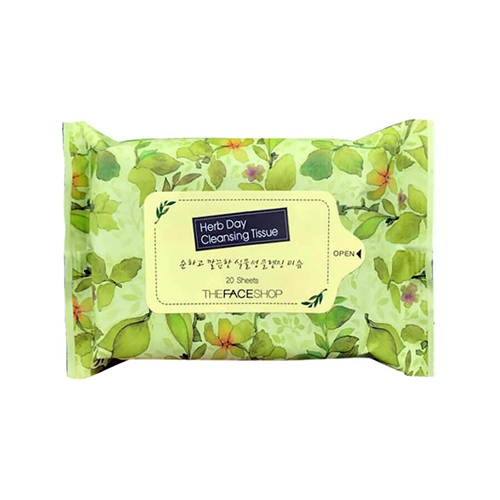 Giấy Tẩy Trang The Face Shop Herb Day Cleansing Tissue