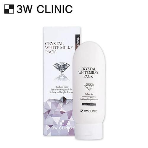 Kem 3w Clinic Crystal Whitening Milky Pack Dưỡng Trắng Body 200ml