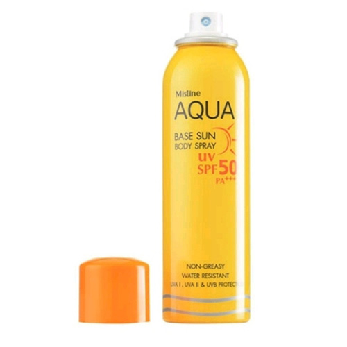 Kem Chống Nắng Dạng Xịt Mistine Aqua Base Sun Body Spray UV SPF50 PA+++ 100ml