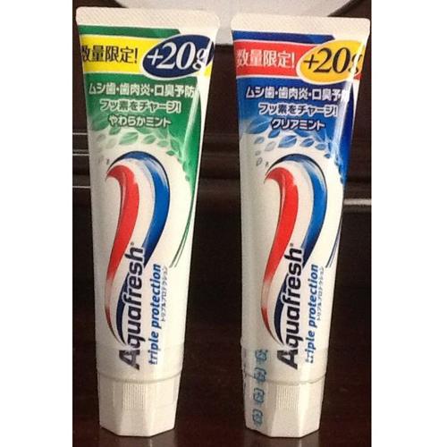 Kem Đánh Răng Aquafresh Nhật Bản 140g+20g