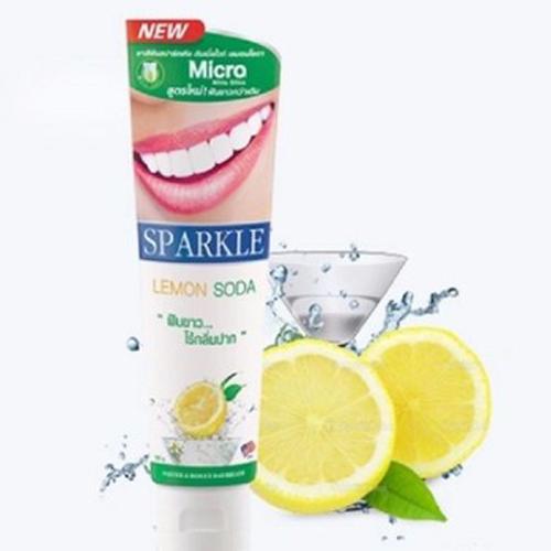 Kem Đánh Răng Sparkle Chanh Soda Organic 100g Thái Lan