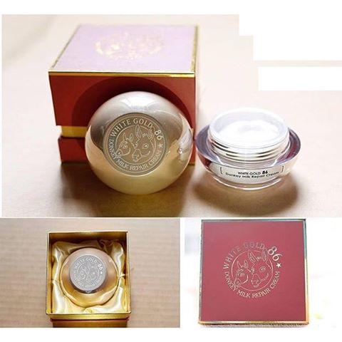 Kem dưỡng da chiết xuất Sữa Lừa White Gold 86 Hàn Quốc
