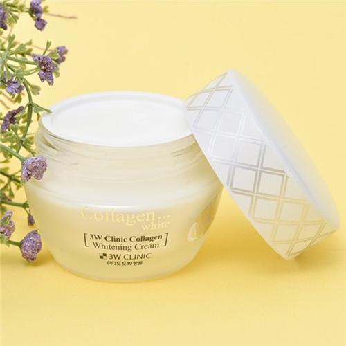 Kem Dưỡng Trắng 3W Clinic Collagen Whitening Cream 60ml Hàn Quốc