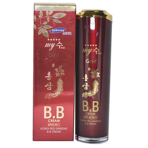 Kem Lót Nền BB Cream Hồng Sâm Đỏ My Gold Spf45 Pa++(40 ml)