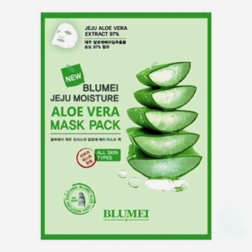 Mặt Nạ Dưỡng Ẩm Da Blumei Jeju Moisture Aloe Vera Mask Pack 23g Hàn Quốc