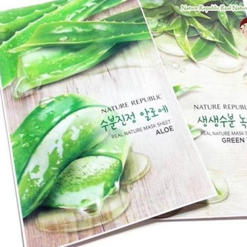 Mặt nạ lô hội Nature Republic Real Nature Aloe Mask Sheet 23ml Hàn Quốc