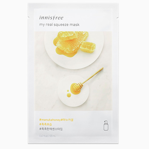 Mặt Nạ Miếng Chiết Xuất Mật Ong Manuka Innisfree My Real Squeeze Mask