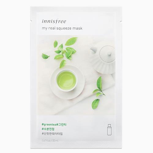 Mặt Nạ Miếng Chiết Xuất Trà Xanh Innisfree My Real Squeeze Mask Green Tea Hàn Quốc