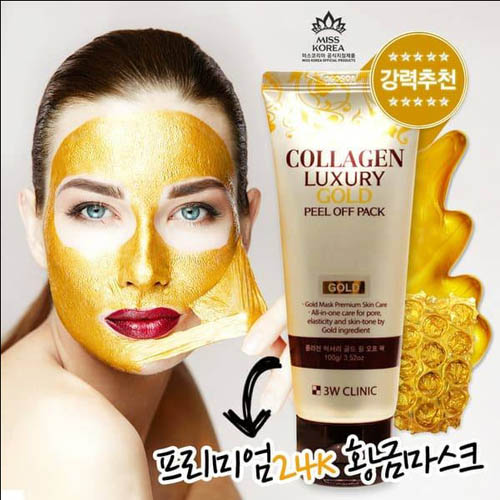 Mặt Nạ Vàng Collagen Luxury Gold Peel Off Pack 100g Hàn Quốc