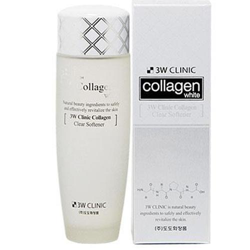 Nước Hoa Hồng Làm Trắng Da Collagen 3W Clinic 150ml Hàn Quốc