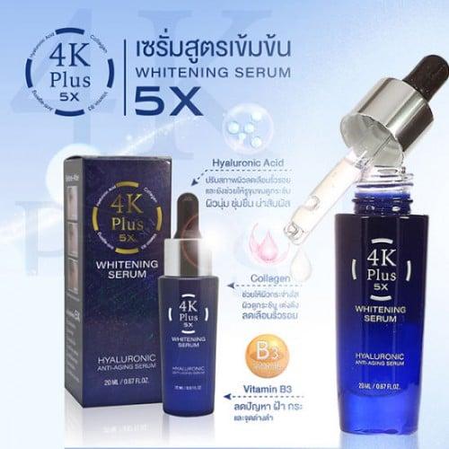 Serum Dưỡng Trắng Da Mặt 4K Plus 5X Whitening Serum 20ml Thái Lan