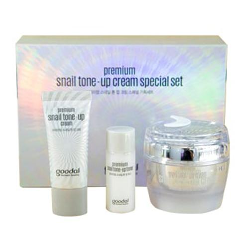 Set Kem Ốc Sên Dưỡng Trắng Da Goodal Premium Snail Tone Up Cream Hàn Quốc