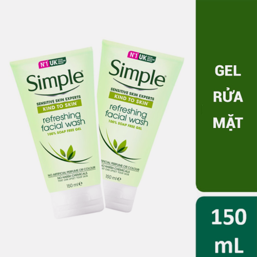 Sữa Rửa Mặt Dạng Gel Simple Refresh Facial Wash