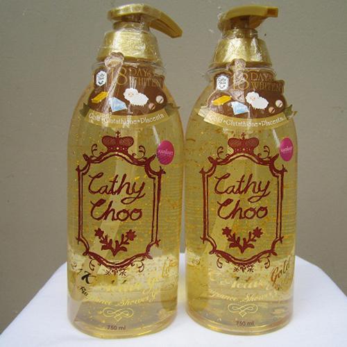 Sữa Tắm Dưỡng Trắng Cathy Choo 24k Active Gold 750ml