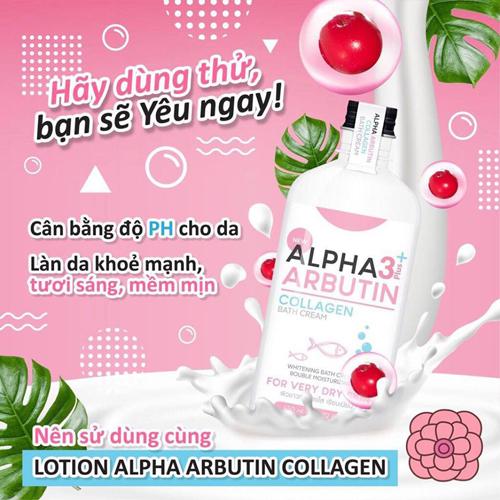 Sữa Tắm Dưỡng Trắng Da Alpha Arbutin 3+ Plus Collagen Bath Cream 350ml