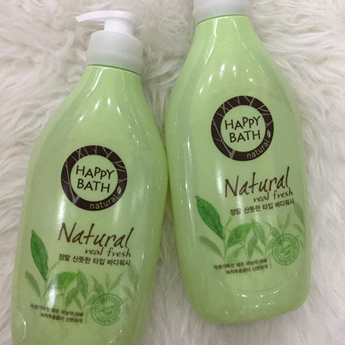 Sữa tắm Happy Bath Natural Real Mild Body Wash 900ml Hương Trà Xanh