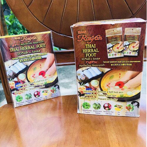 Thảo Dược Ngâm Chân Rasyan Thai Herbal Foot Thái Lan Hộp 12 gói x 20g