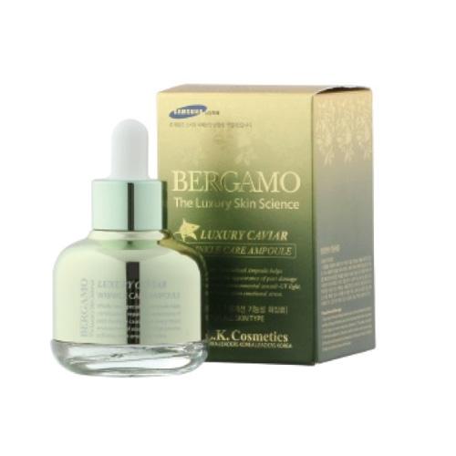 Tinh Chất Bergamo Luxury Xóa Tàn Nhang Mờ Vết Nám Skin Science Luxury Caviar Wrinkle Care Ampoule 30ml