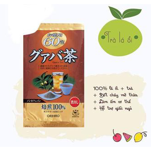 Trà Giảm Cân Vị Ổi Orihiro Guava Tea 60 Gói Nhật Bản