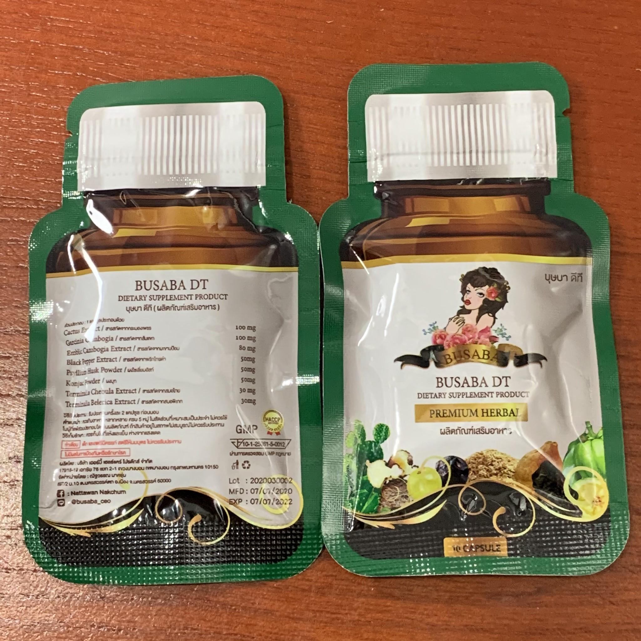 Viên Uống Thải Độc Khử Mỡ Giảm Cân Detox Busaba DT 10 Viên Thái Lan