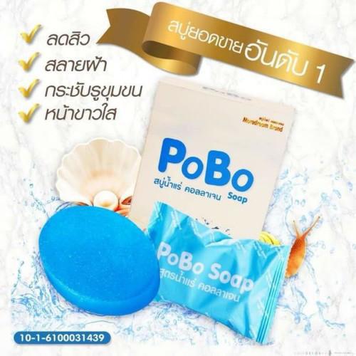 Xà Bông Rửa Mặt Trị Mụn Và Sẹo Thâm PoBo 60g Thái Lan