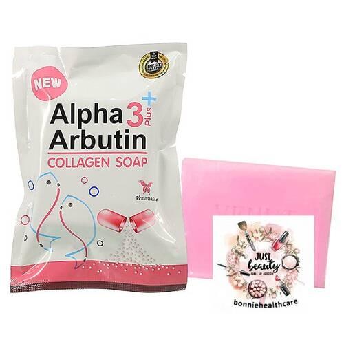 Xà Bông Tắm Trắng Alpha 3 plus Arbutin Collagen Soap 80g Thái Lan