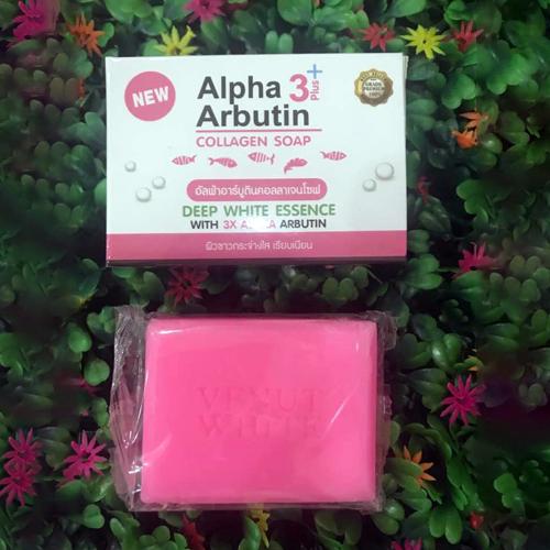 Xà Bông Tắm Trắng Da Venut White Alpha Arbutin Collagen Soap 80g Thái Lan