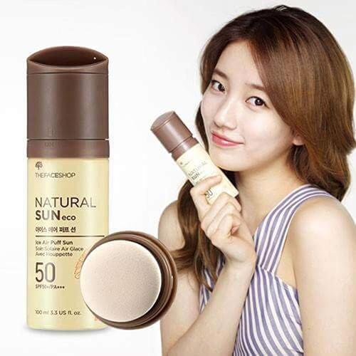 Xịt chống nắng TFS Ice Air Puff Sun SPF 50+ PA+++ Hàn Quốc