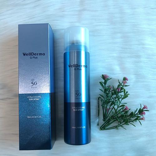 Xịt Chống Nắng Wellderma G Plus SPF 50Pa+ Hàn Quốc